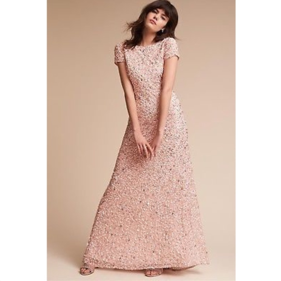 6a250f2966cc BHLDN Dresses | Nwt Blush Pink Sequined Lucent Dress | Poshmark